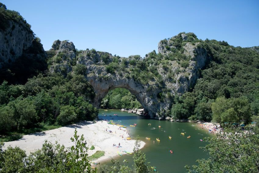 At 20 Mn From The Campsite, Acces To The Magnificent Gorges Of The River  Ardèche By Canoë Kayak. You Can Book Your Descent By Canoe Or Kayak  Directly At The ...